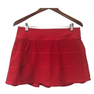 Lululemon Pace Rival Skirt Dark Red Size 6T Tall